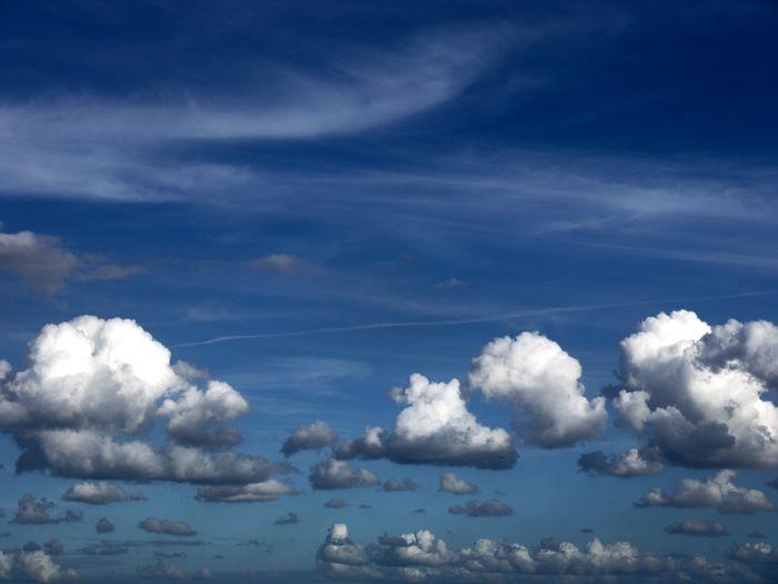 夏の雲と秋の雲。