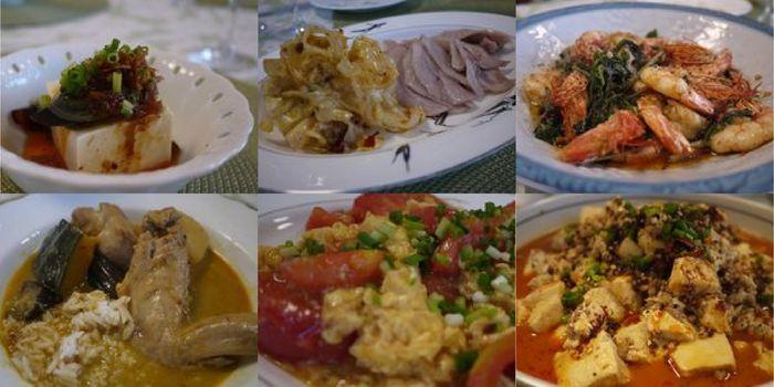 ピータン豆腐・塩茹豚首肉・エビバジル・スープカレー・タマトマ・麻婆豆腐