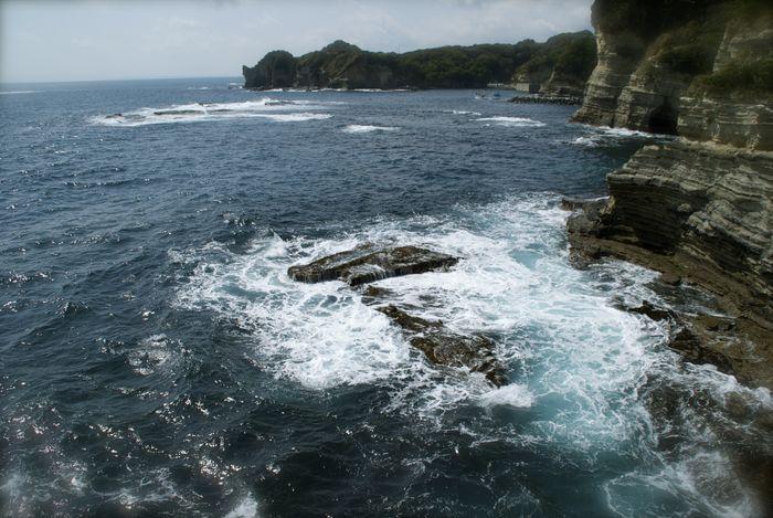 勝浦の海。