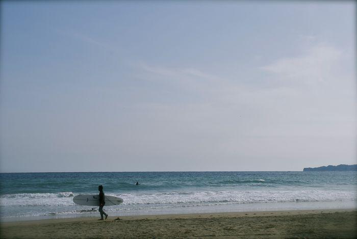 御宿の浜辺。